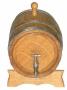 Боченок дубовый с краником - 5 л